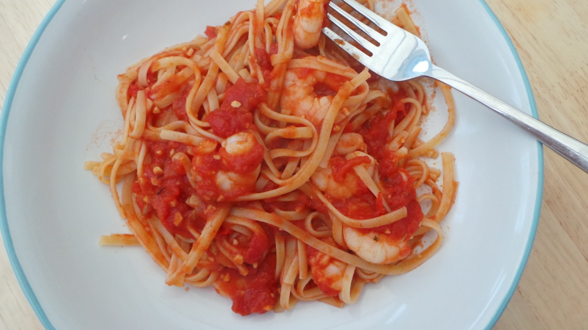 Recipe: King Prawn Linguine