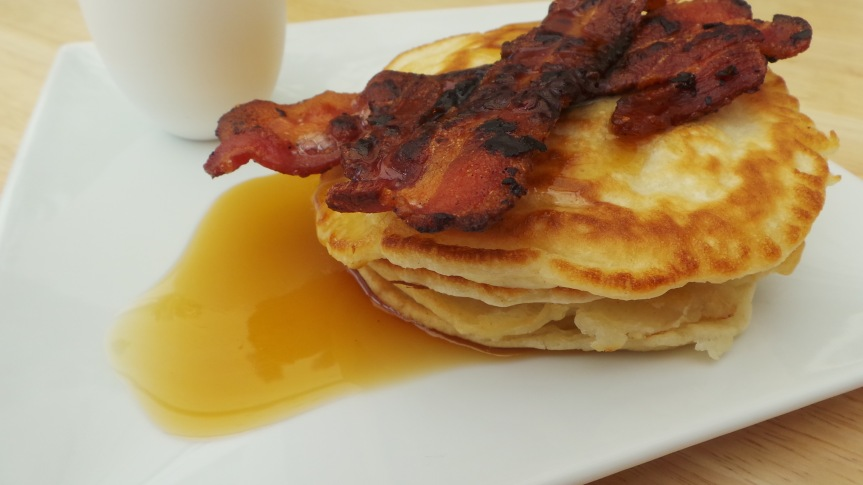 Recipe: American Pancakes with Bacon