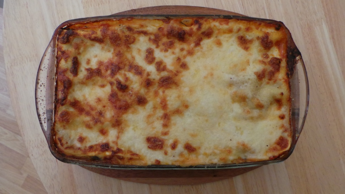 Recipe: Chorizo and Roasted Vegetable Lasagne